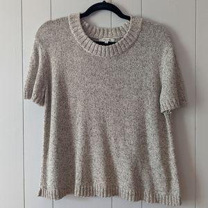Madewell Short Sleeve Marled Sweater